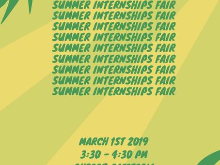 Summer Internship Fair this Friday!