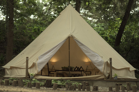 Fully equipped tents.