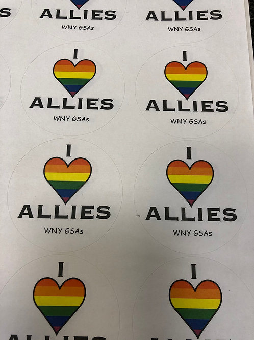 I Love Allies Stickers