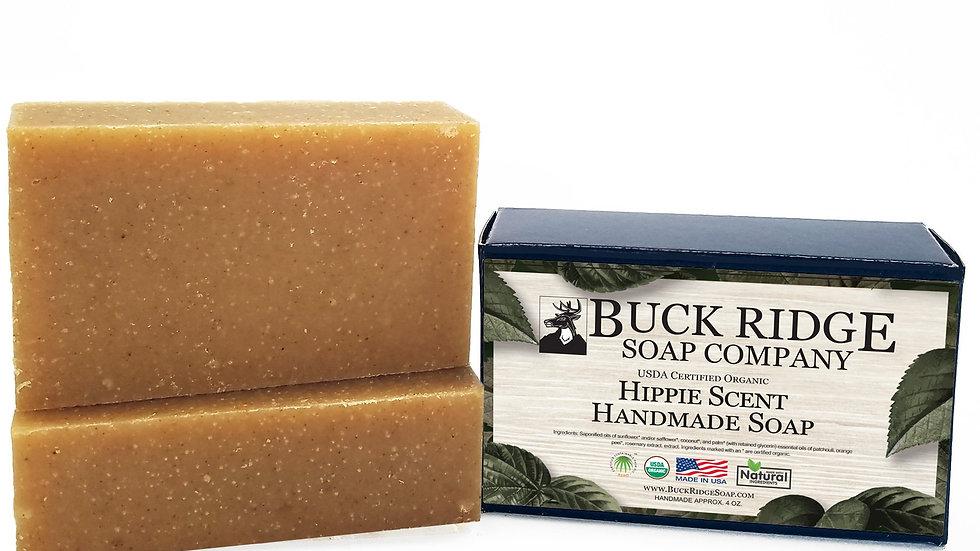Hippie Scent Men's Handmade Soap - USDA Certified Organic
