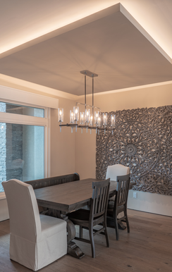 Dining Room with Suspended Ceiling