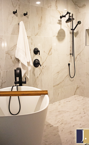 Master Shower with Free-Standing Bathtub