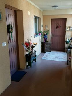 einladender Zutritt zu den Wohnungen
