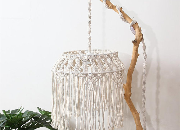 Hand-Woven Moroccan Lampshade Chandelier