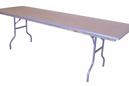 8FT Wood Rectangle Banquet Table