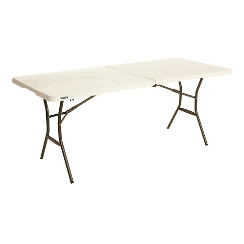 6FT White Folding Table