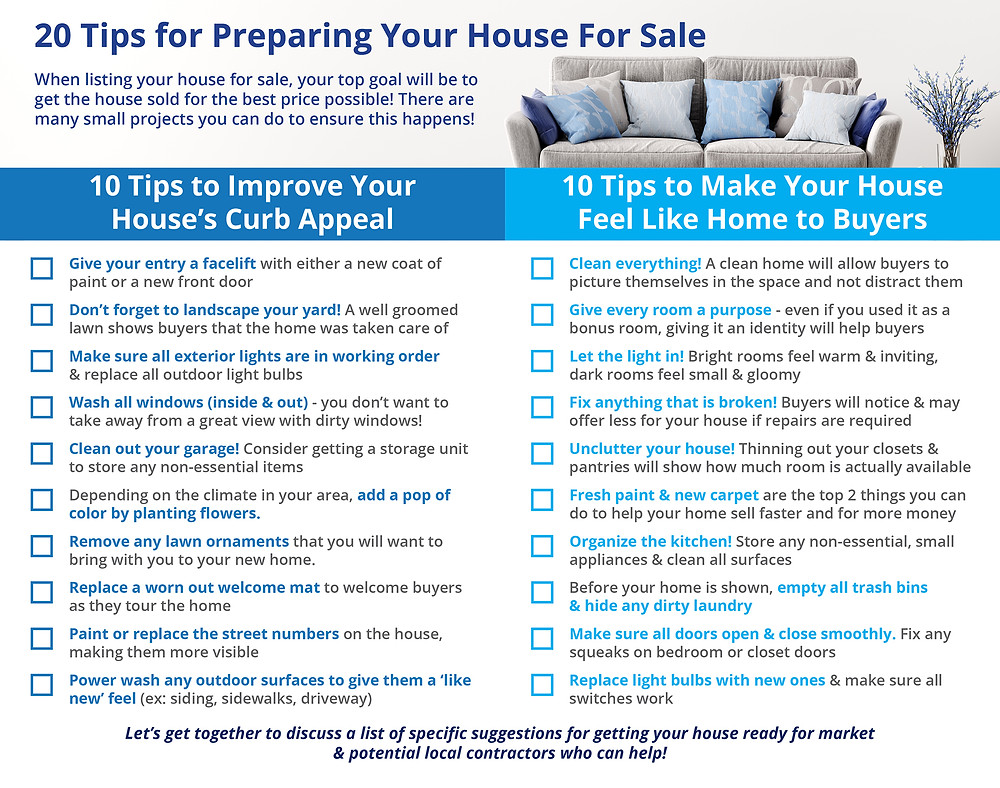 20 Tips for Preparing Your House for Sale This Spring [INFOGRAPHIC]   Simplifying The Market