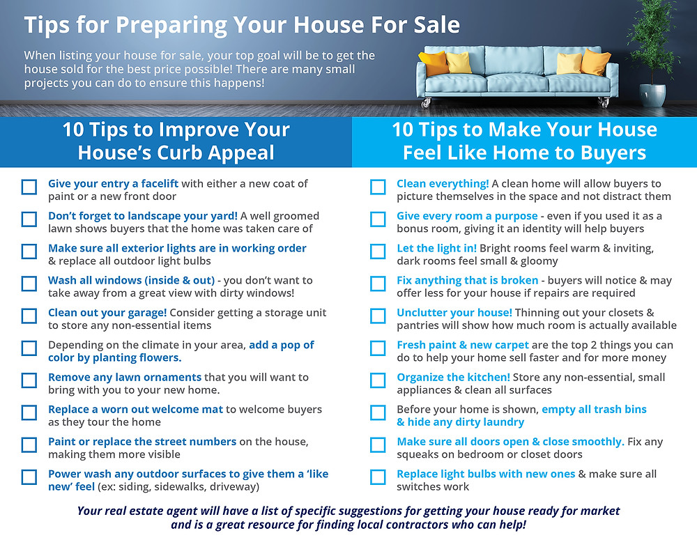 Tips for Preparing Your House For Sale [INFOGRAPHIC]   Simplifying The Market