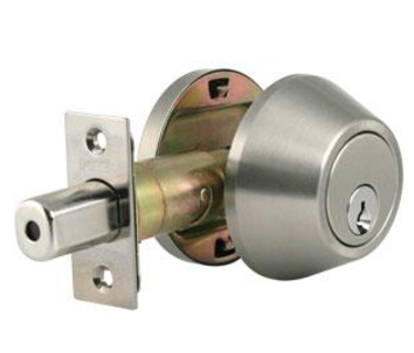 Dorex Single Cylinder Deadbolt 20151 x C3 (Brass) x Weiser Kwy
