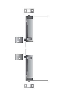Standard Metal Automatic Flushbolt for Wood Door x 26D