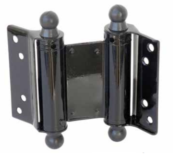 """Taymor Double Action 4"""" Spring Hinges in Black Finish"""