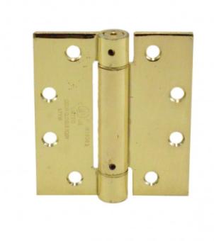 "Dorex 1310 4.5"" x 4"" x C3 (Brass) Spring Hinge"