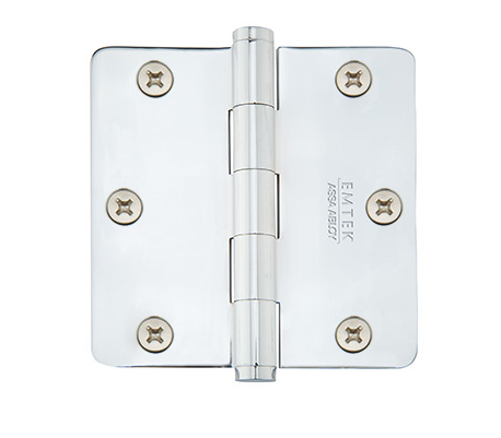 "Emtek Residential 3.5"" x 3.5"" Hinge with Rounded Corners x 26"