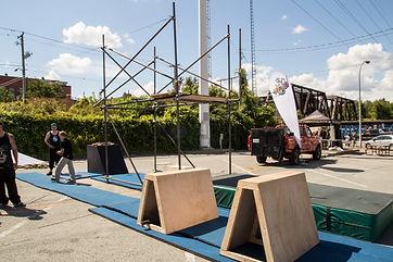 Festival sherbrooke Amalgam enfant parkour trampoline centre-ville