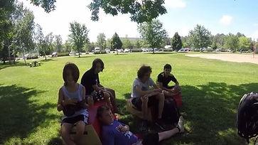 Camp de parkour / groupe adolescent / parcours