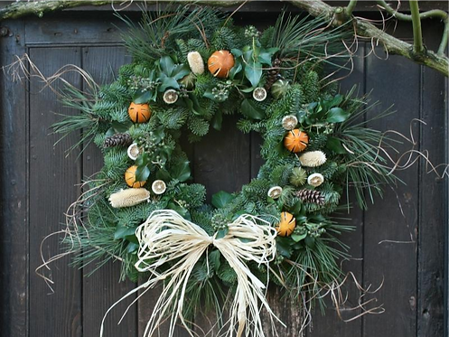 Straw Bow Wreath
