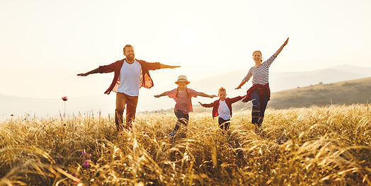 Happy family_ mother, father, children s