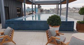 A rooftop pool on Strand for BritAward party.
