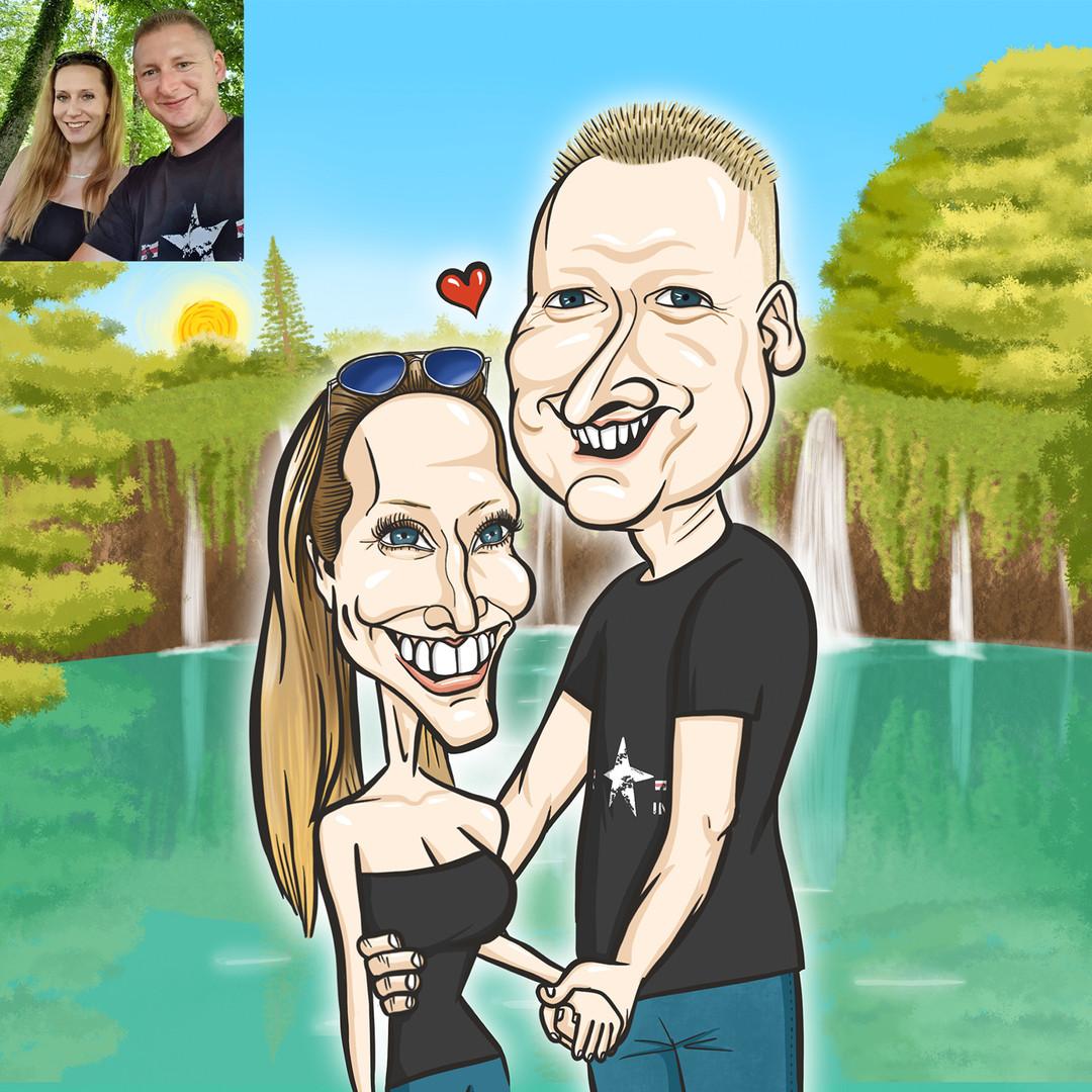 Evelin az egyik legszebb emléke, amikor férje a születésnapja alkalmából egy utazással lepte meg: ide, a Plitvicei-tavakhoz szerette volna, hogy visszarepítsem őket.