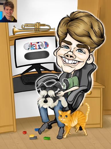 Digitális karikatúra