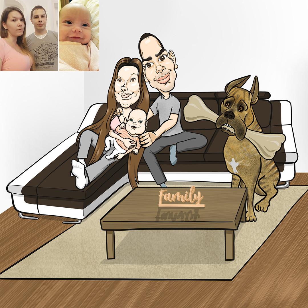 Cintiának a családja a legszebb, ez a legfontosabb érték: férje, kislányuk, és titáni kutyájuk, aki rendszerint előszeretettel rágcsálja kedvenc brotoszaurusz combját.