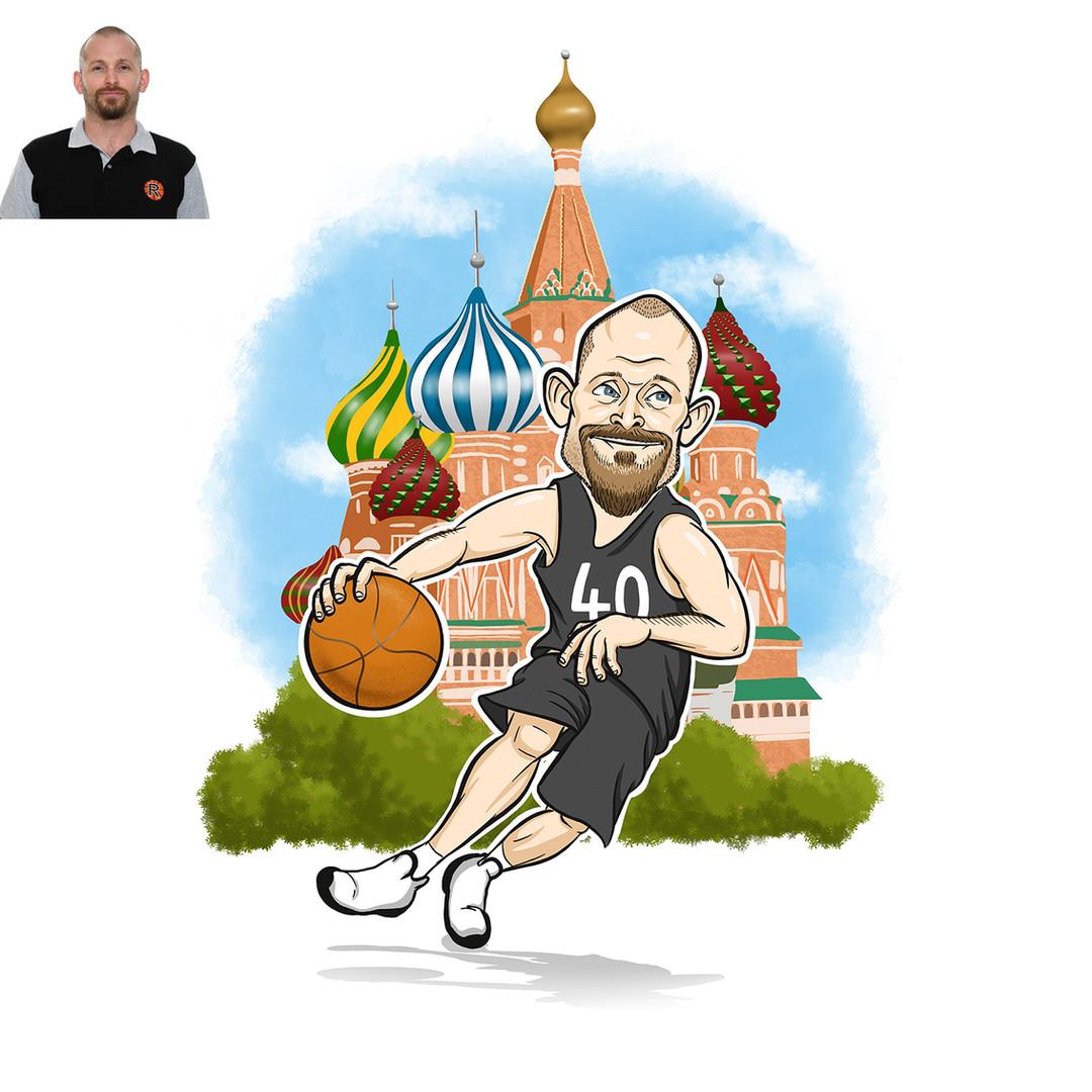 Női kosárlabda utánpótlás edző , a kosárlabda szerelmese. Csapatával többek között Moszkvába is kijutott, ez az élmény nagyon sokat jelent számára. 40. születésnapja alkalmából lepte meg édesanyja ezzel a karikatúrával :)