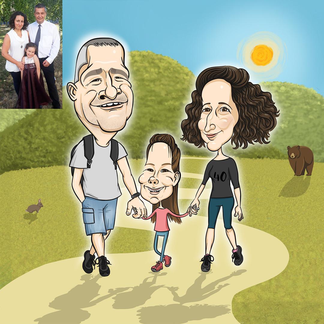 Családi séta, túrázás, a természet közös szeretete erősíti ezt a családot <3