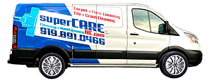Supercare Cleaning and Maintenance Service Van. Carpet cleaning in North Carolina