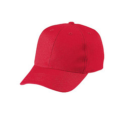 Youth 6 Panel Pro Cotton Twill_Red