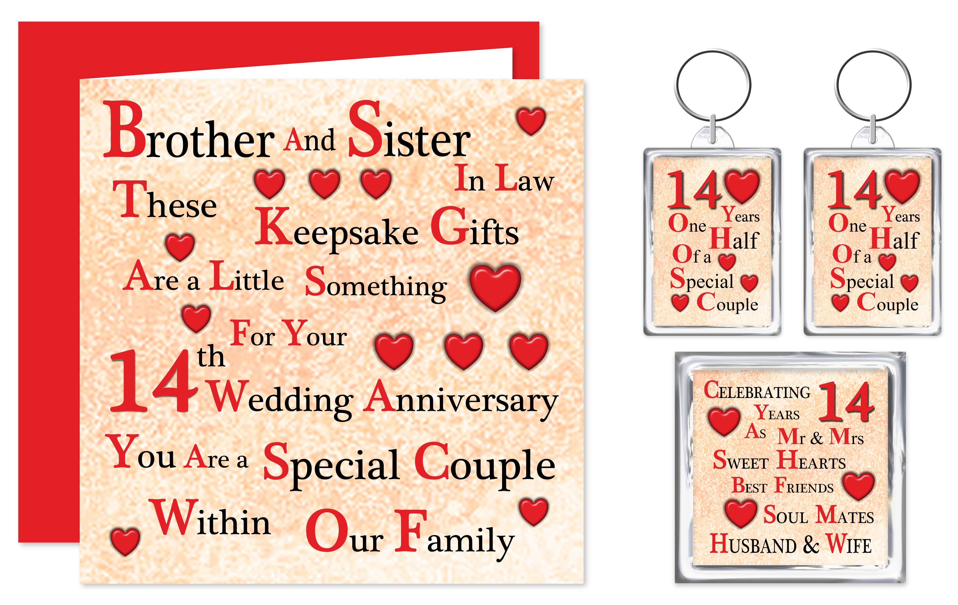 14th Brother Sister In Law Wedding Anniversary Gifts Special Couple