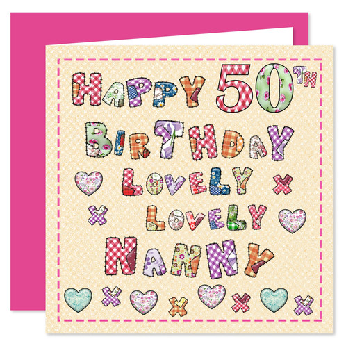 Rosie Online 50th Nanny Happy Birthday Card Lovely You Design 50 Today