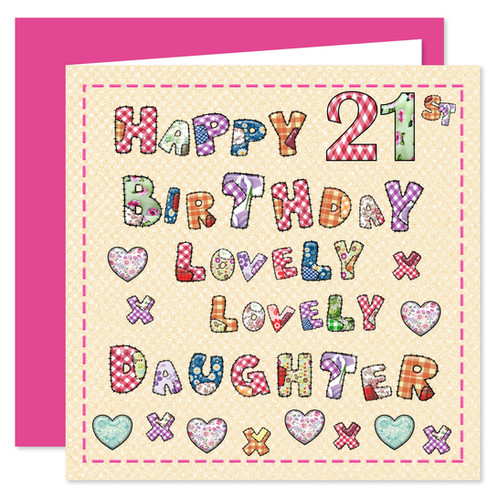 Rosie Online 21st Daughter Happy Birthday Card Lovely You Design