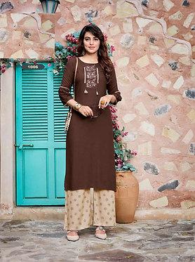 Kaavi Fab Stylise Rayon Cotton Bottom Dress Material