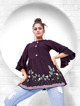 Kaavi Fab Stylish & Casual Top With Embroidery