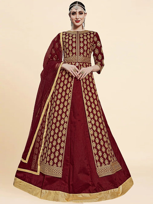 New Arrival Latest Maroon Stone Work Salwar Suits