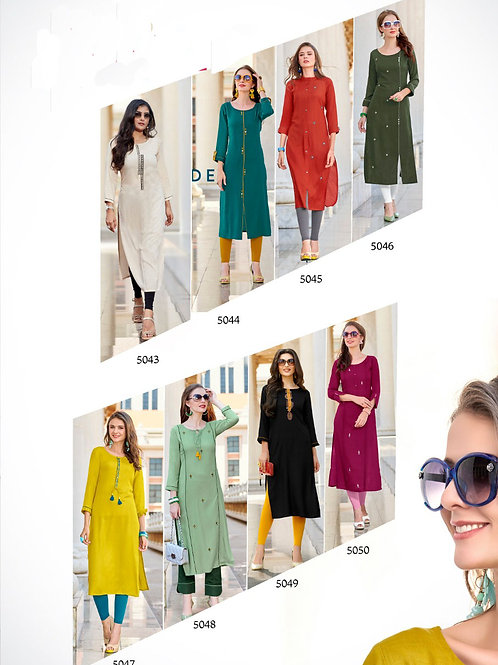 Kaavi Fab Stylish Rayon Cotton Liva Tag Kurti