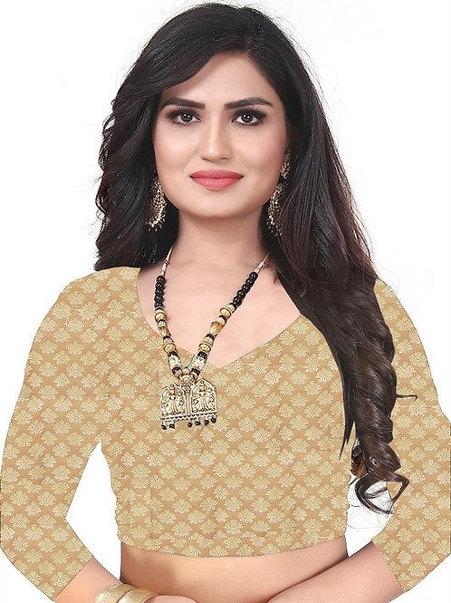 Latest design golden jacquard blouse