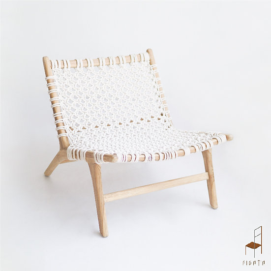 Florota Cotton Rope Occasional chair - Outdoor Solid Wood Furniture
