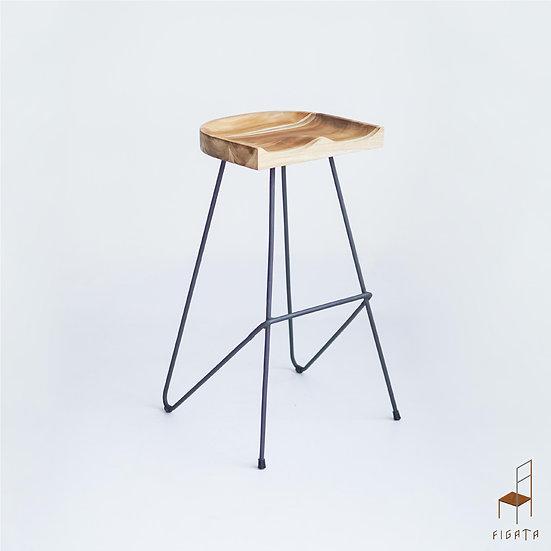 Pototi Barstool- Outdoor Solid Teak Wood Furniture