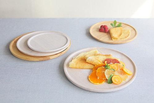 Round Wooden Plates