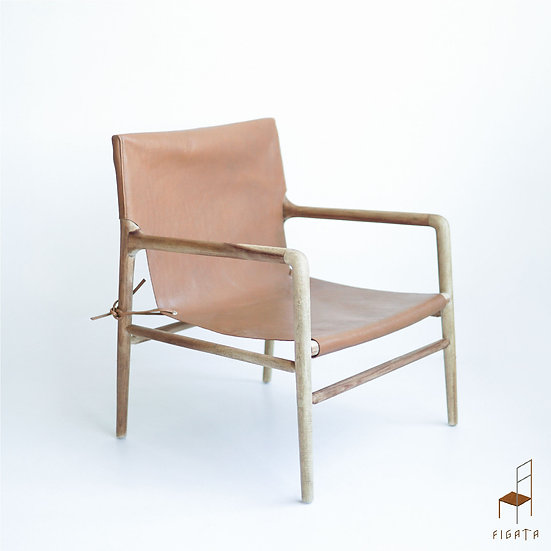 Kontika Leather Occasional Chair - Solid Wood Furniture