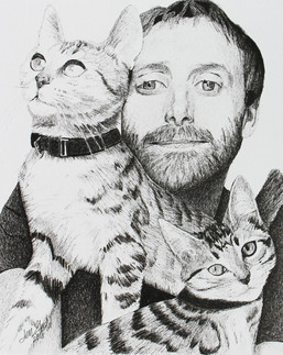 Cats with Man