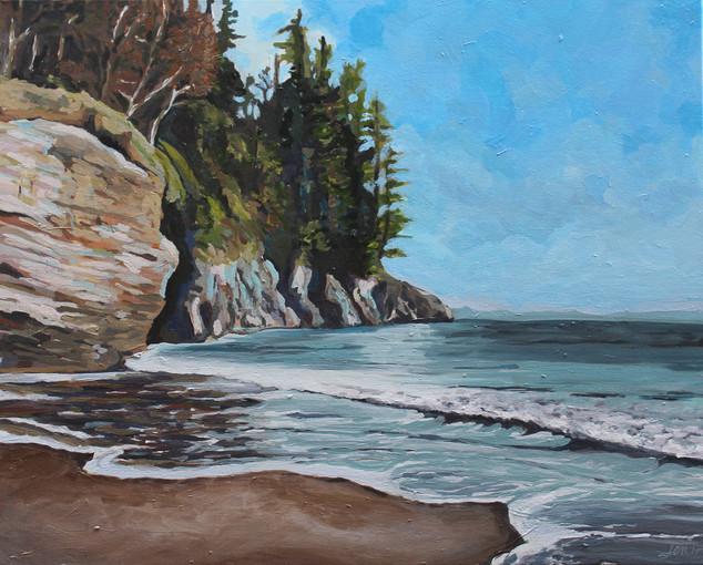 Mystic Beach in Paint