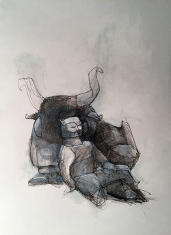 Man and Bull