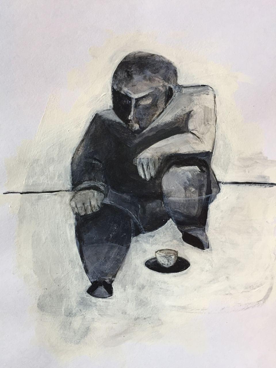 Man with teacup