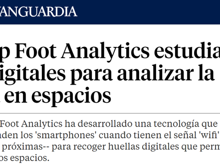 Foot Analytics in La Vanguardia