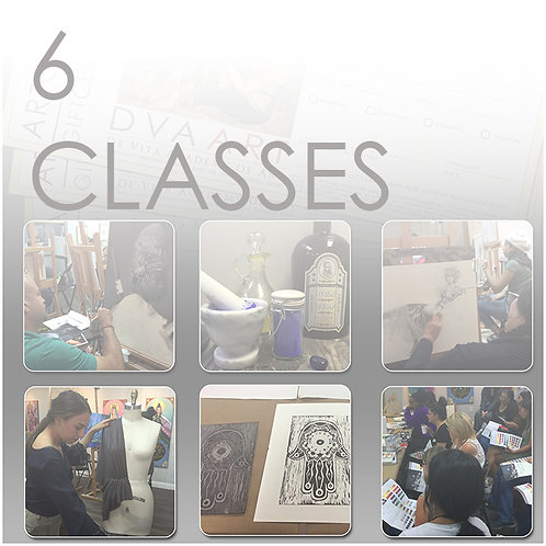 6 Classes, Save $15 / 5% Off!