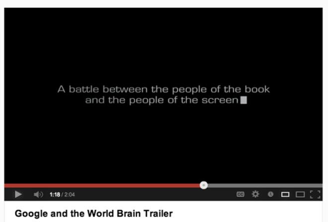 google world brain trailer
