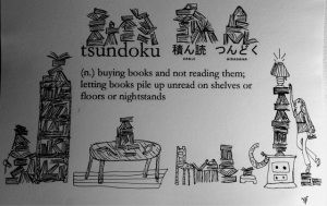 Tsundoku: Illustrated Definition of a Book Lover's Problem