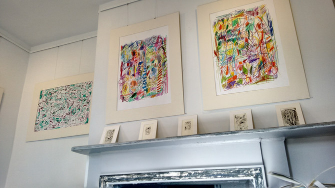 'DRAWN' - Joint Exhibition with Toby Rainbird-Webb at the ICE Space.